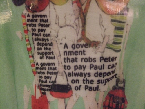 The picture on this shirt was of fashion model-ey ladies, covered in these words...